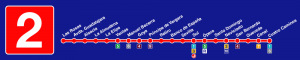 Plano línea 2 Metro de Madrid