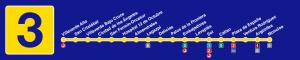Plano línea 3 Metro de Madrid