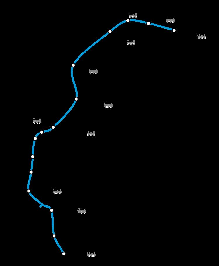 Plano Metro Londres línea Victoria
