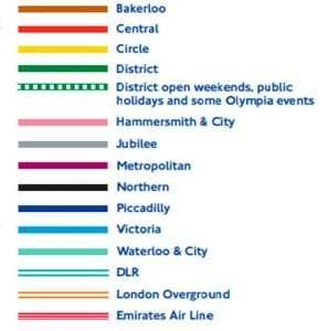 Plano Metro de Londres lineas