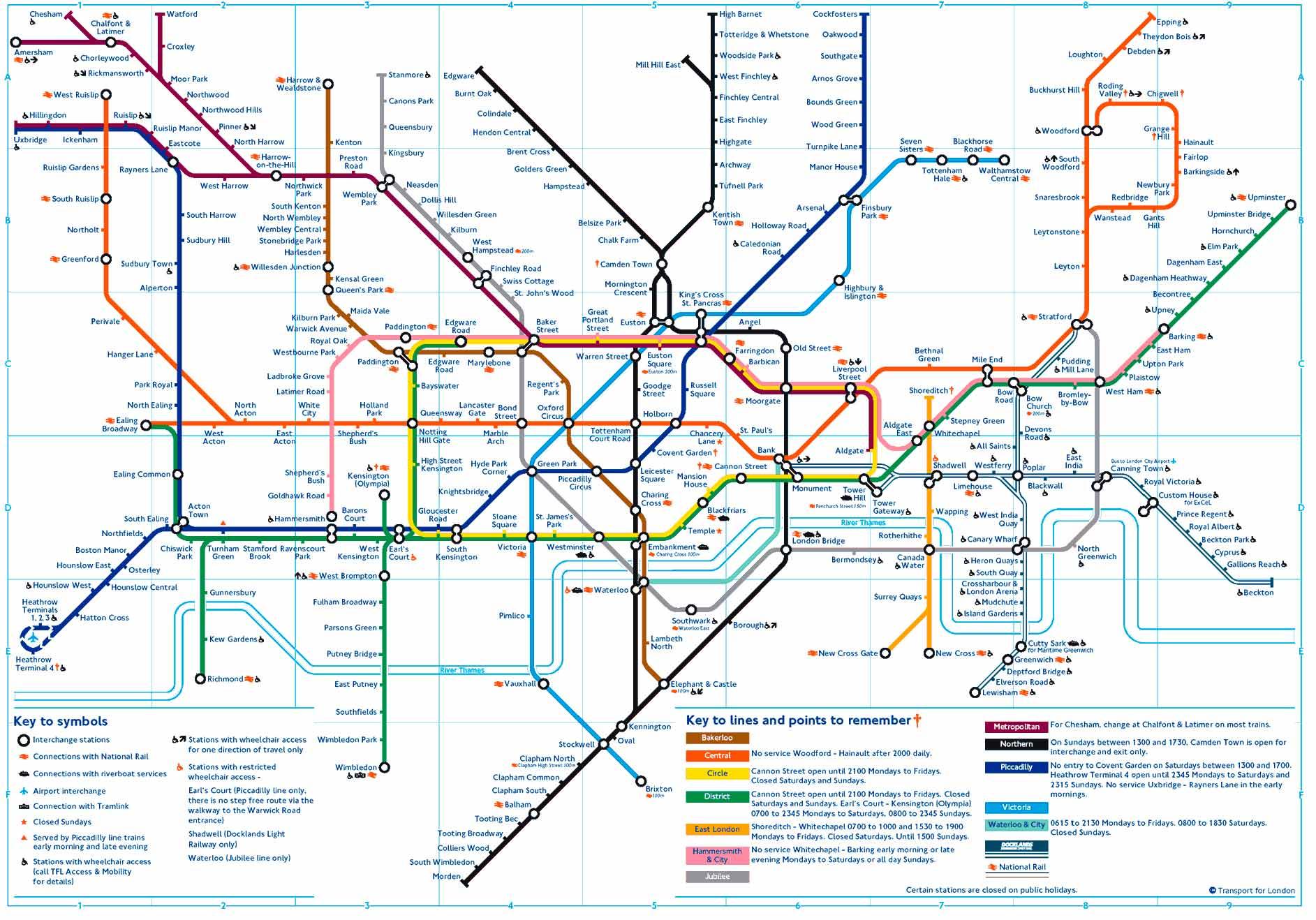 Plano Del Mentro De Londres Plano Completo Y Turistico Tarifas