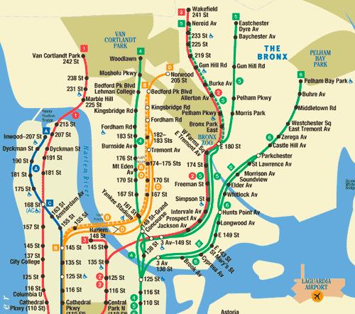 Plano Metro Bronx Nueva York