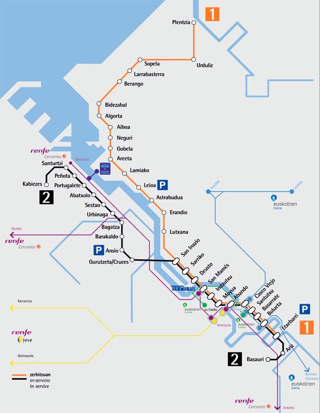 Metro Bilbao plano completo