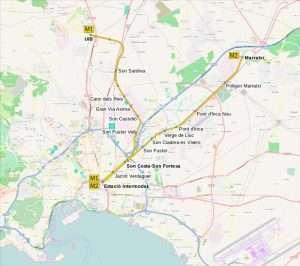 Mapa Metro Palma de Mallorca